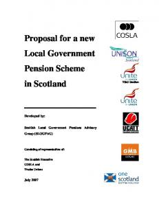 Proposal for a new Local Government Pension Scheme in Scotland