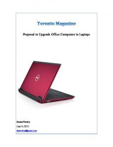 Proposal to Upgrade Office Computers to Laptops