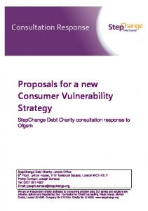 Proposals for a new Consumer Vulnerability Strategy