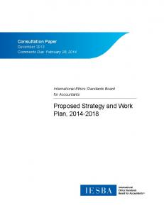 Proposed Strategy and Work Plan,