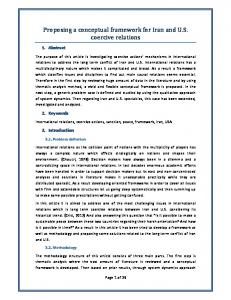 Proposing a conceptual framework for Iran and U.S. coercive relations