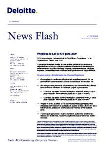 Proposta de Lei de OE para 2009