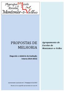 PROPOSTAS DE MELHORIA