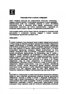 Propozycje zmian w ustawie o obligacjach