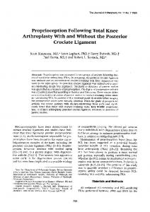 Proprioception Following Total Knee Arthroplasty With and Without the Posterior Cruciate Ligament