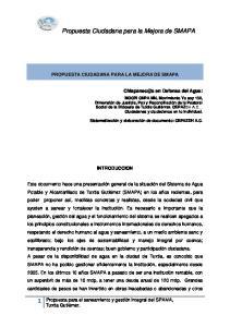 Propuesta Ciudadana para la Mejora de SMAPA