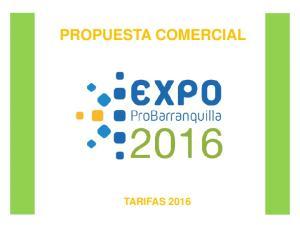 PROPUESTA COMERCIAL TARIFAS