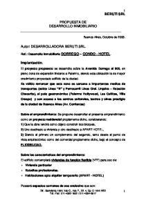 PROPUESTA DE DESARROLLO INMOBILIARIO