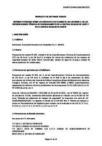 PROPUESTA DE DICTAMEN TECNICO