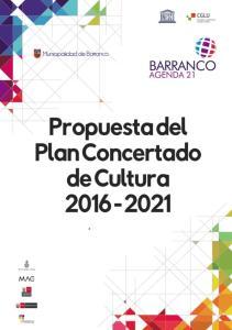 Propuesta de Plan de Concertado de Cultura