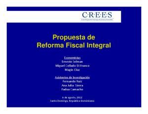 Propuesta de Reforma Fiscal Integral