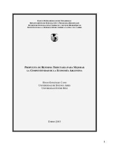 PROPUESTA DE REFORMA TRIBUTARIA PARA MEJORAR