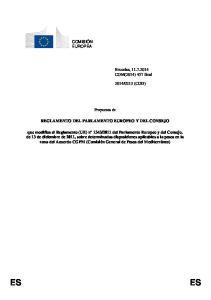 Propuesta de REGLAMENTO DEL PARLAMENTO EUROPEO Y DEL CONSEJO