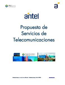Propuesta de Servicios de Telecomunicaciones