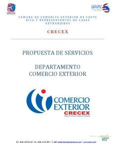 PROPUESTA DE SERVICIOS DEPARTAMENTO COMERCIO EXTERIOR