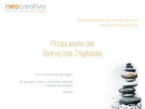 Propuesta de Servicios Digitales