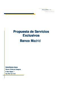 Propuesta de Servicios Exclusivos Banco Madrid