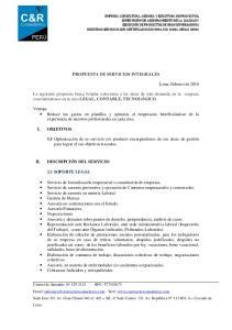 PROPUESTA DE SERVICIOS INTEGRALES