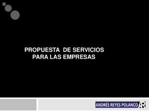 PROPUESTA DE SERVICIOS PARA LAS EMPRESAS