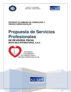 Propuesta de Servicios Profesionales DE REVISORIA FISCAL NEXIA M&A INTERNATIONAL S.A.S