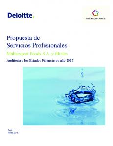 Propuesta de Servicios Profesionales