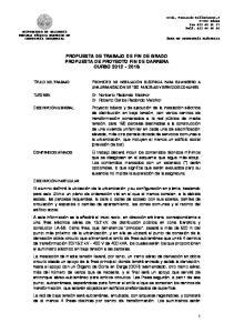 PROPUESTA DE TRABAJO DE FIN DE GRADO PROPUESTA DE PROYECTO FIN DE CARRERA CURSO