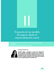 Propuesta de un modelo de negocio desde el emprendimiento social