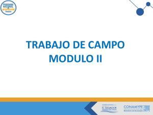 PROPUESTA DE VALOR PMV TRABAJO DE CAMPO MODULO II