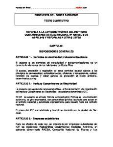 PROPUESTA DEL PODER EJECUTIVO TEXTO SUSTITUTIVO