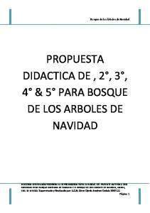 PROPUESTA DIDACTICA DE, 2, 3, 4 & 5 PARA BOSQUE DE LOS ARBOLES DE NAVIDAD