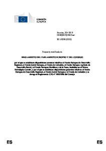 Propuesta modificada de REGLAMENTO DEL PARLAMENTO EUROPEO Y DEL CONSEJO