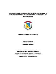 PROPUESTA PARA EL DESARROLLO DE UN MODELO DE MEDICION DE HABILIDADES GERENCIALES PARA GERENTES DE PROYECTOS DE MOTOROLA, 2014