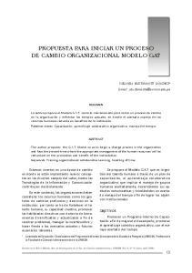 PROPUESTA PARA INICIAR UN PROCESO DE CAMBIO ORGANIZACIONAL MODELO GAT