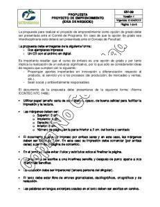 PROPUESTA PROYECTO DE EMPRENDIMIENTO (IDEA DE NEGOCIO)