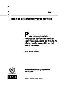 Propuesta regional de