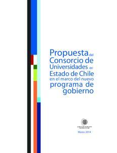 Propuestadel. Consorcio de. gobierno. programa de. Estado de Chile. Universidades del. en el marco del nuevo