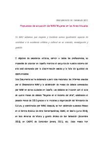 Propuestas de actuación de MAV Mujeres en las Artes Visuales