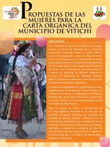 PROPUESTAS DE LAS MUJERES PARA LA CARTA ORGÁNICA DEL MUNICIPIO DE VITICHI