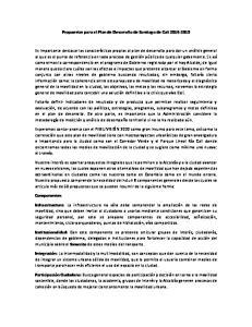 Propuestas para el Plan de Desarrollo de Santiago de Cali
