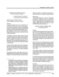 PROSPECTIVA CONSTITUCIONAL DEL ESTATUTO DE ROMA *