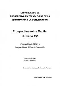 Prospectiva sobre Capital Humano TIC