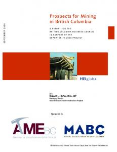 Prospects for Mining in British Columbia