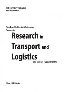 Prospects for Research in Transport and Logistics