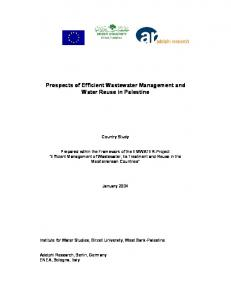 Prospects of Efficient Wastewater Management and Water Reuse in Palestine