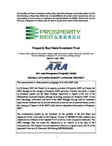 Prosperity Real Estate Investment Trust