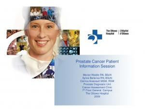 Prostate Cancer Patient Information Session