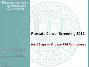 Prostate Cancer Screening 2012:
