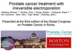 Prostate cancer treatment with irreversible electroporation