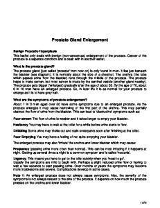 Prostate Gland Enlargement