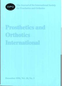 Prosthetics and Orthotics International